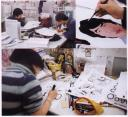 manga artists at work